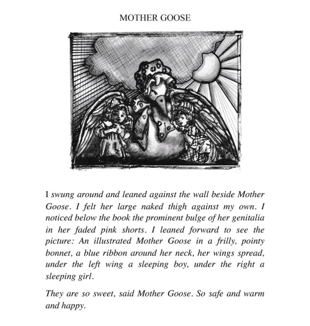 Mother Goose, illustration from the book Penitentiary Tales, by EA Leutkemeyer
