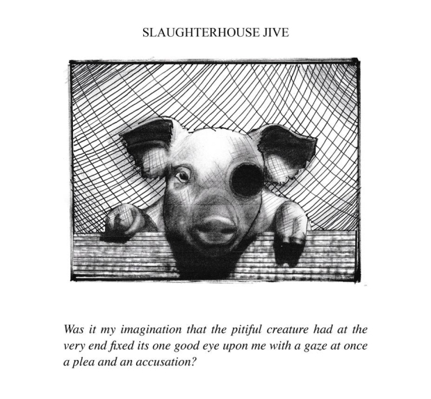 Slaughterhouse Jive, illustration from the book Penitentiary Tales, by EA Leutkemeyer