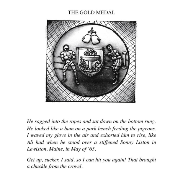 the gold Medal, illustration from the book Penitentiary Tales, by EA Leutkemeyer